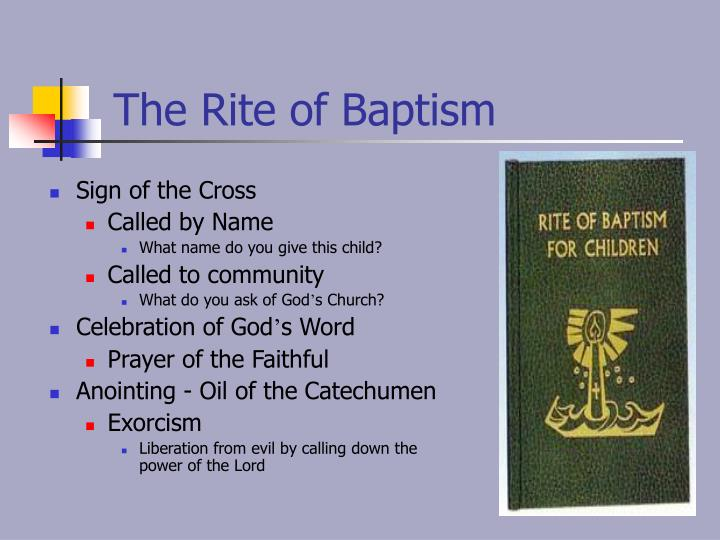 The Rite of Baptism