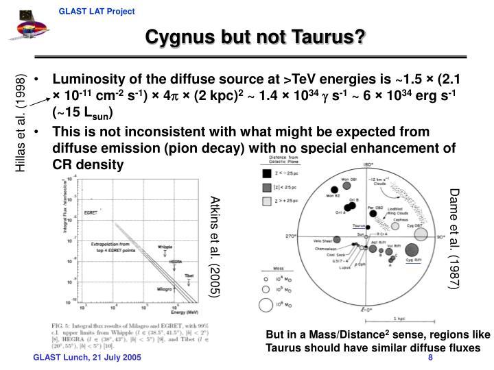 Cygnus but not Taurus?