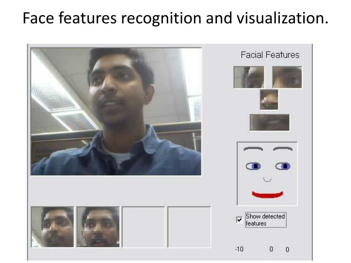 Face features recognition and visualization.