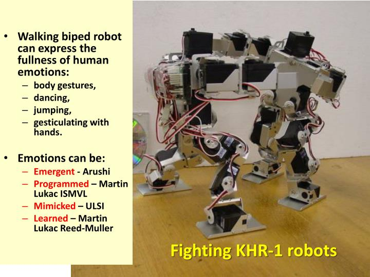 Walking biped robot can express the fullness of human emotions: