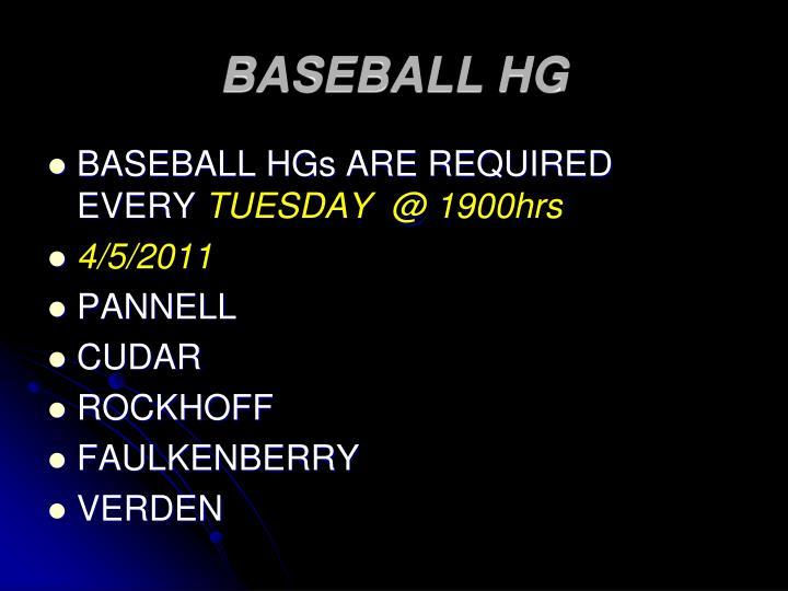 BASEBALL HG