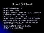 mcneil drill meet