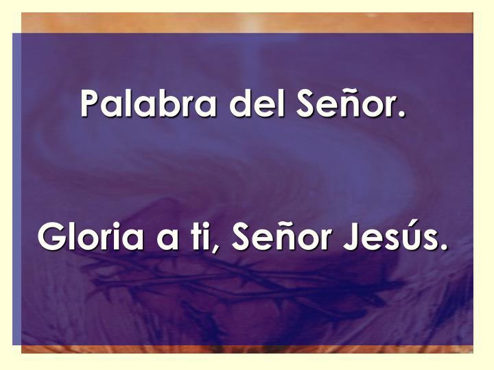 Palabra del Señor.