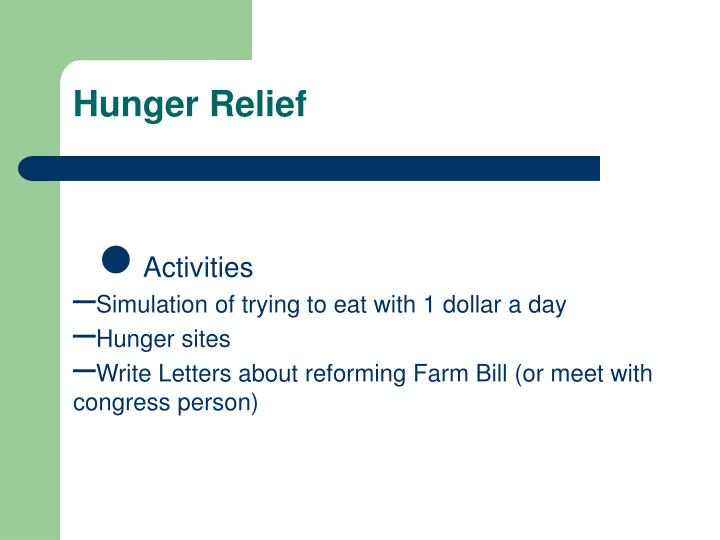 Hunger Relief