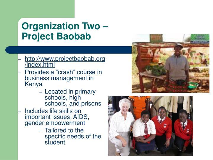 Organization Two –