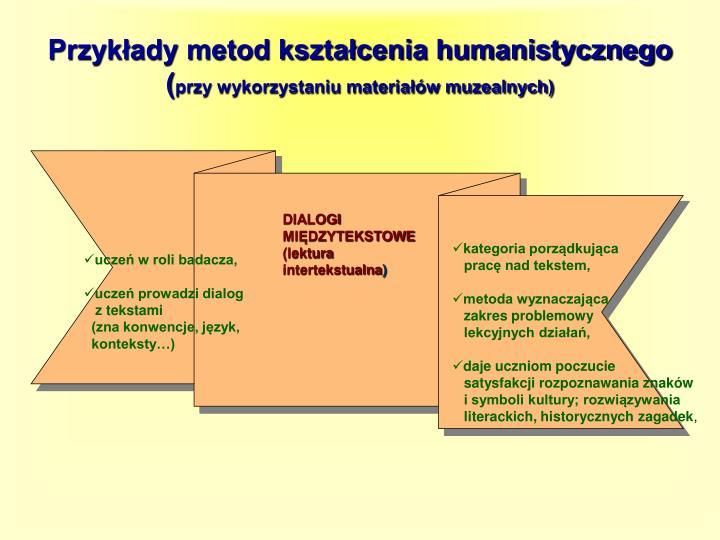 Przykłady metod kształcenia humanistycznego (