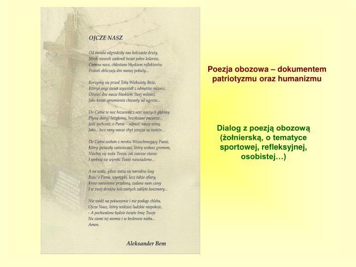 Poezja obozowa – dokumentem