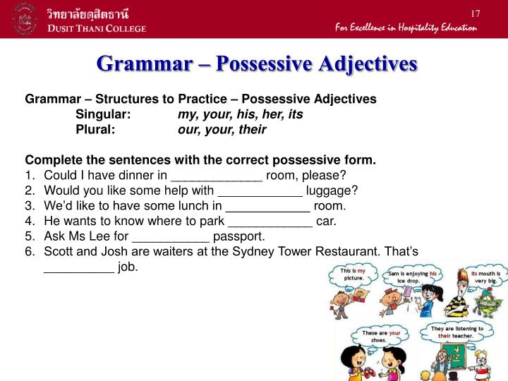 Grammar – Possessive Adjectives