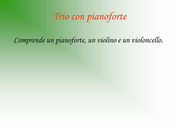Trio con pianoforte