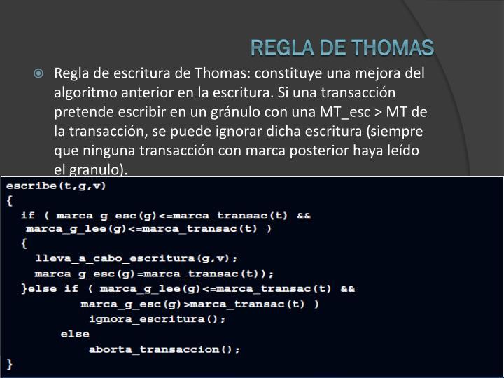 REGLA DE THOMAS