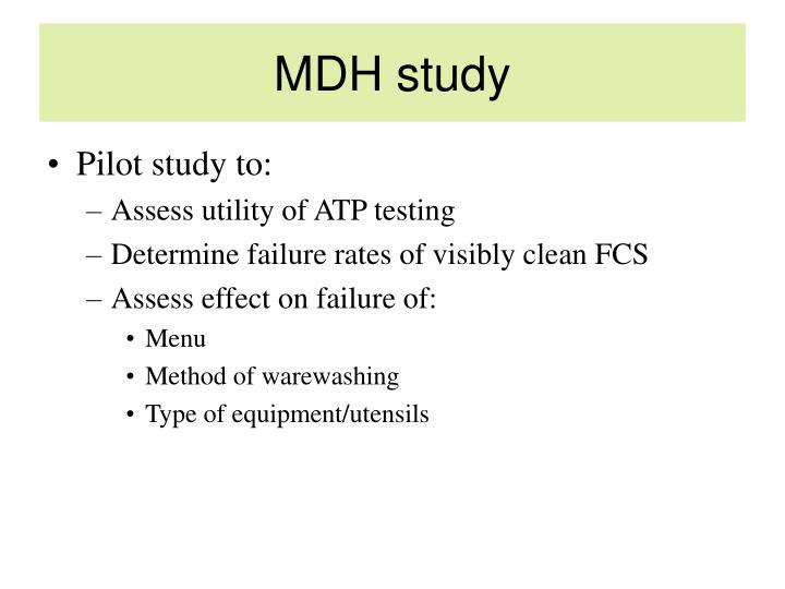MDH study