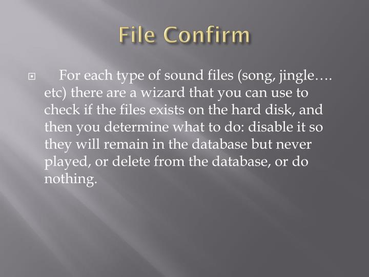File Confirm