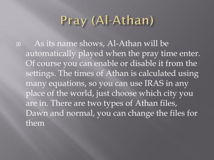 Pray (Al-