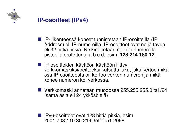 IP-osoitteet (IPv4)