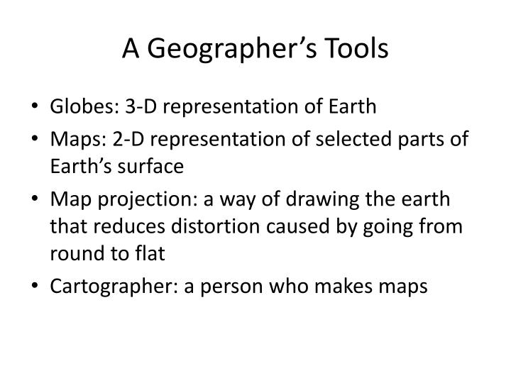 A Geographer's Tools