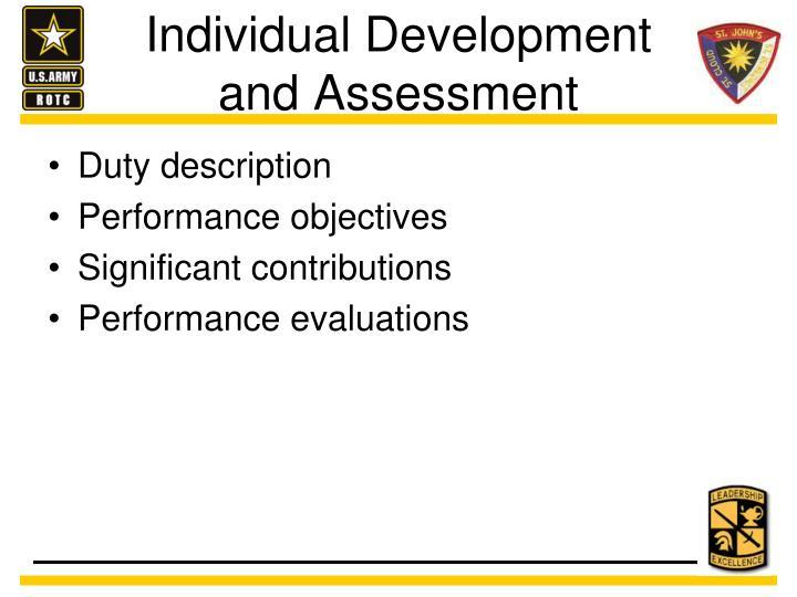 Individual Development