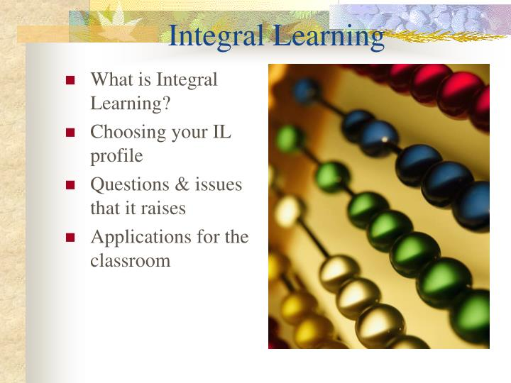 Integral Learning