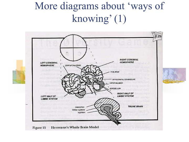 More diagrams about 'ways of knowing' (1)
