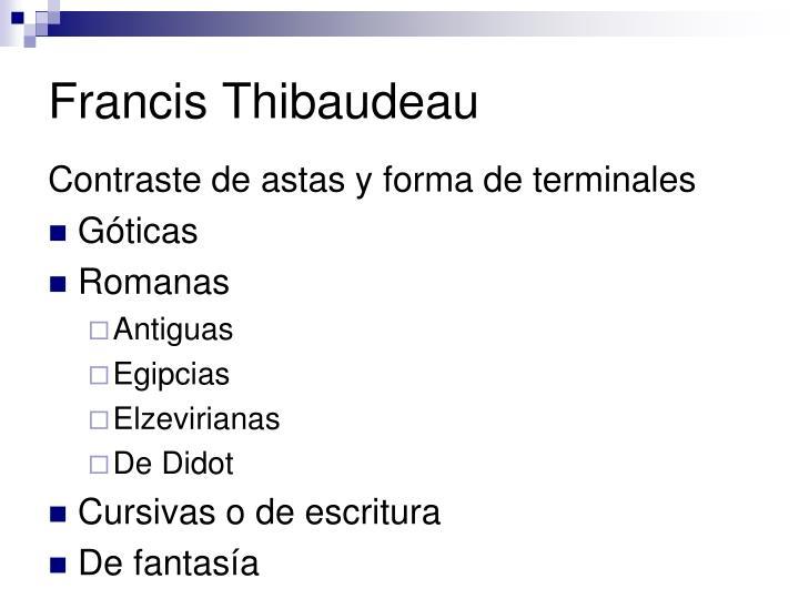 Francis Thibaudeau