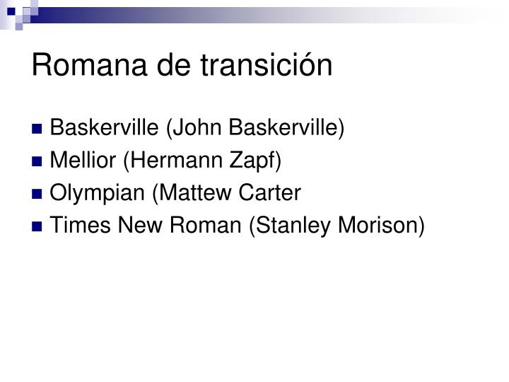 Romana de transición