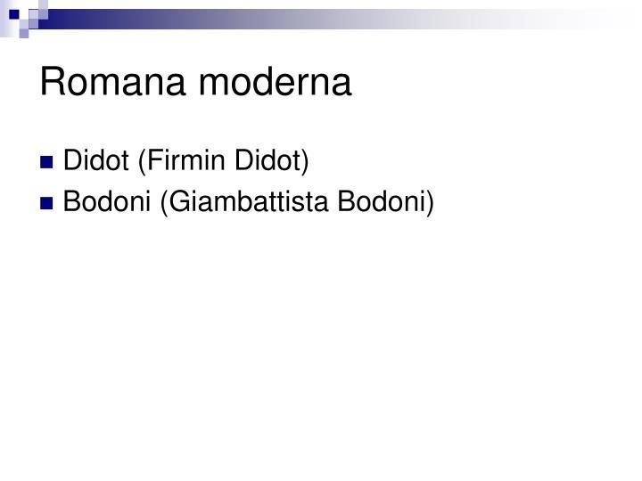 Romana moderna
