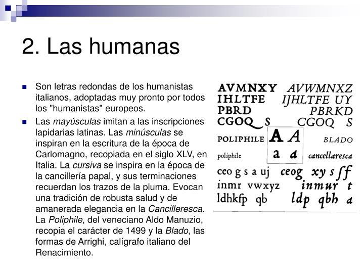 2. Las humanas