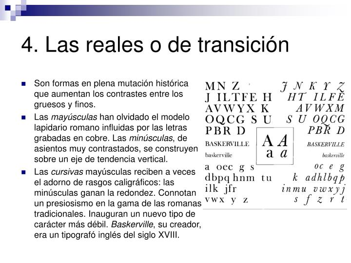 4. Las reales o de transición