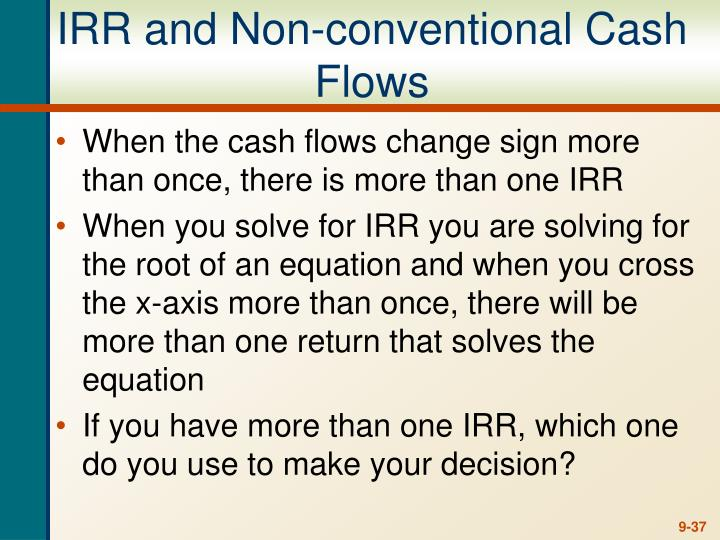 IRR and Non-conventional Cash Flows
