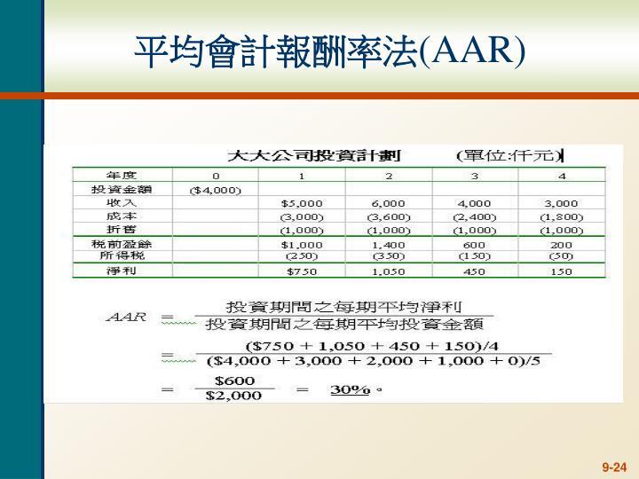 平均會計報酬率法