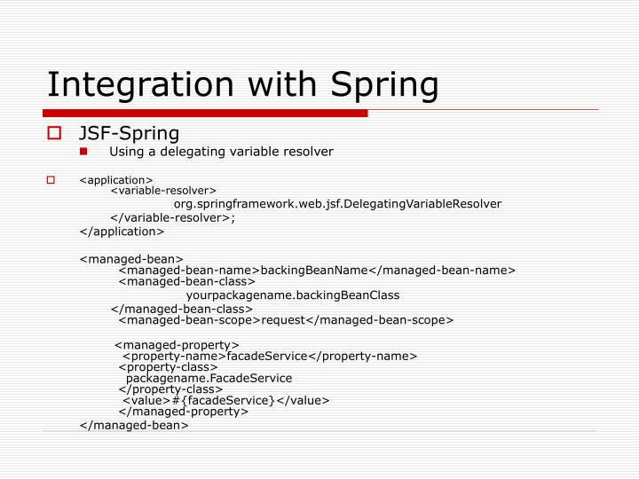 Integration with Spring
