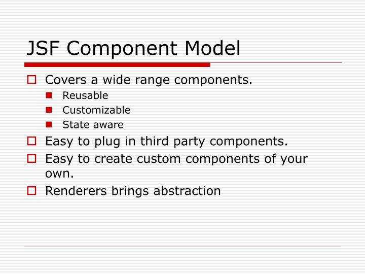 JSF Component Model
