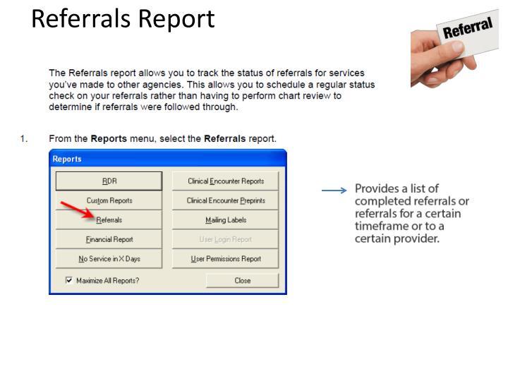 Referrals Report