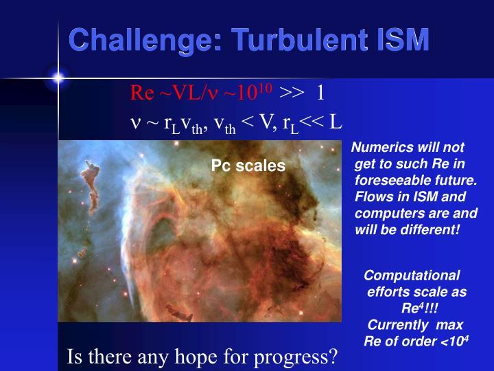 Challenge: Turbulent ISM