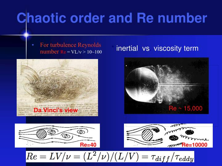 Chaotic order and re number
