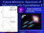 future missions spectrum of turbulence with constellation x