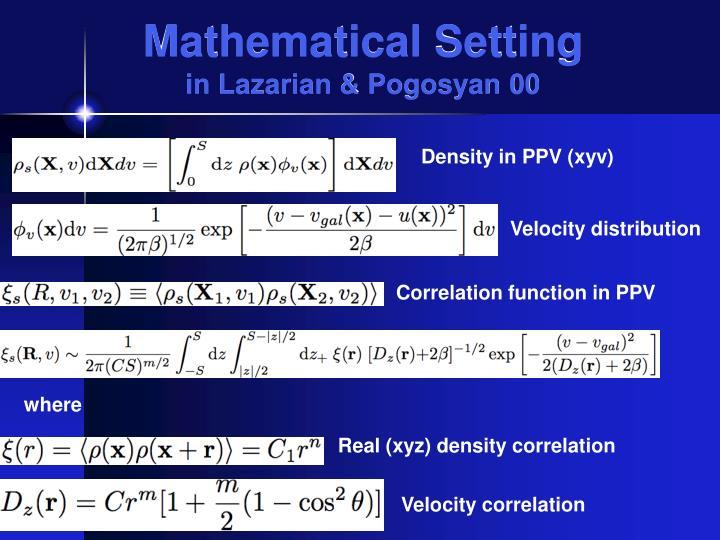 Mathematical Setting