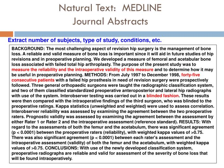 Natural Text:  MEDLINE
