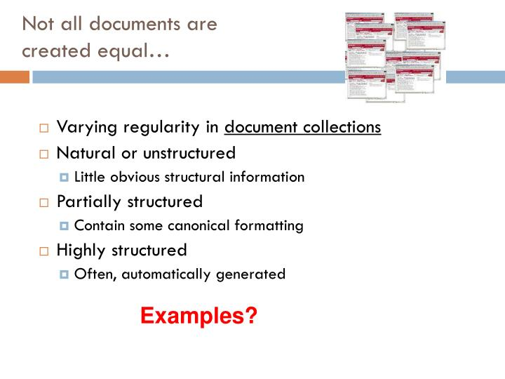 Not all documents are