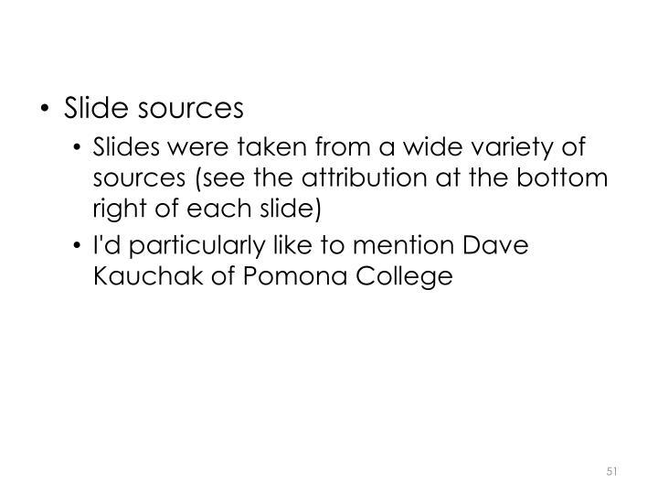 Slide sources