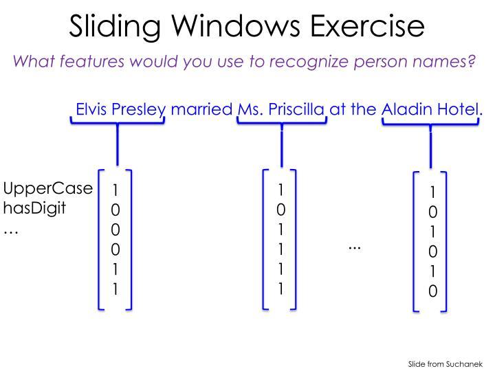Sliding Windows Exercise