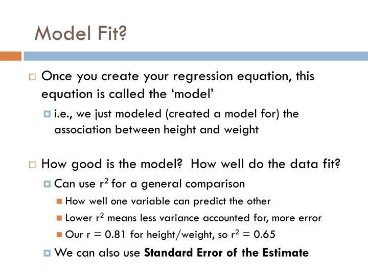 Model Fit?