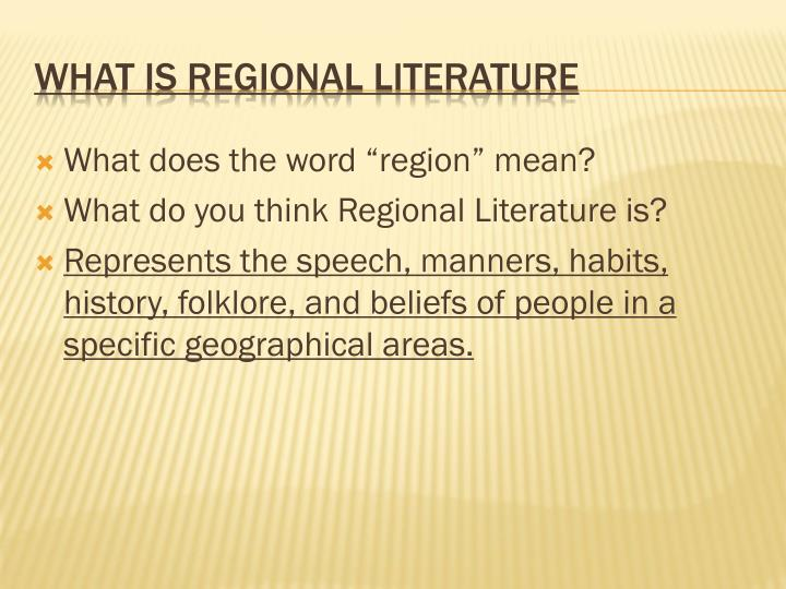 "What does the word ""region"" mean?"