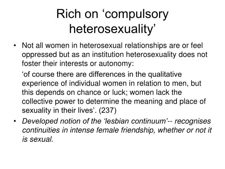 Rich on 'compulsory heterosexuality'