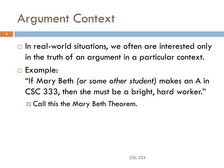 Argument Context