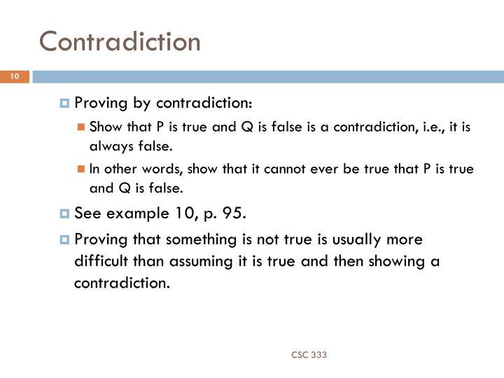 Contradiction