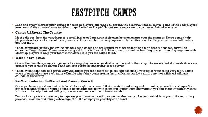 Fastpitch Camps