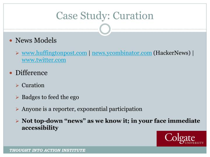 Case Study: Curation