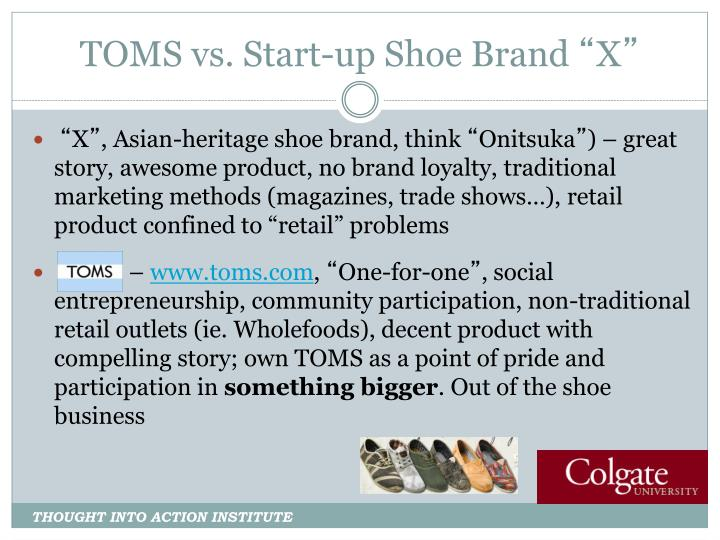 TOMS vs. Start-up Shoe Brand