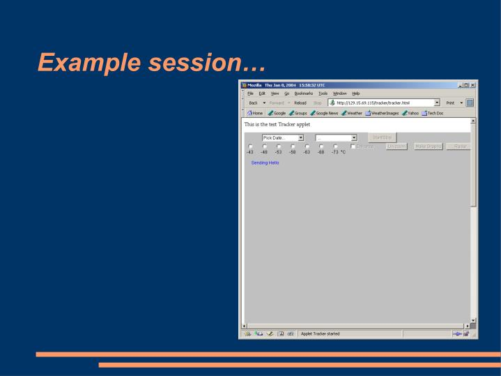 Example session…