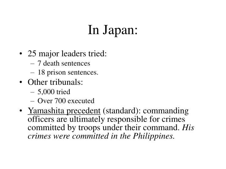 In Japan: